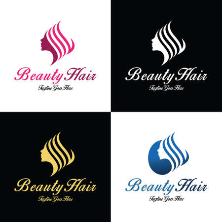 Beauty salon logo design template. Vector illustration 矢量图像