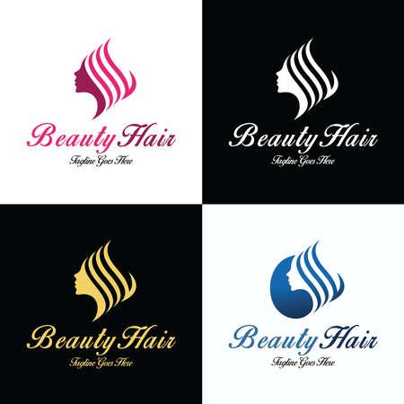 Beauty hair  design template. Vector illustration 矢量图像