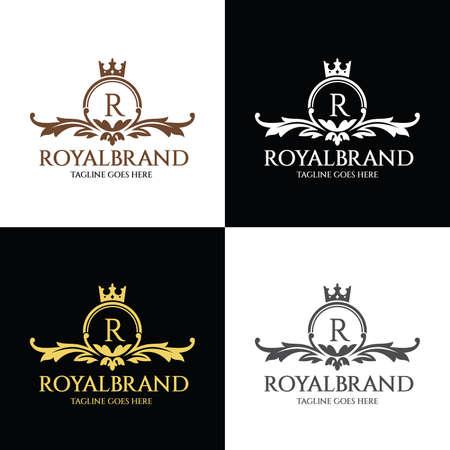 Royal brand logo design template. Vector illustration