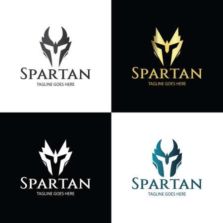 Spartan logo design template. Vector illustration 矢量图像