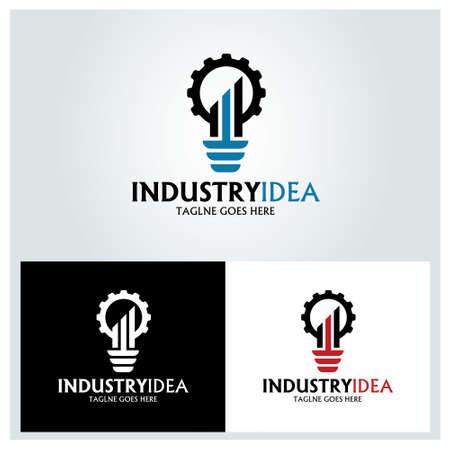 Industry Idea logo design concept. Creative ideas icon. Vector illustration
