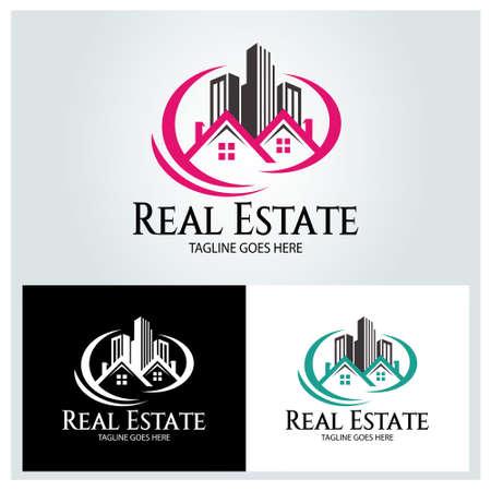 Real estate logo design template. Building icon. Vector illustration