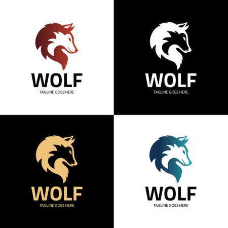 Wolf head logo design concept. Vector illustration