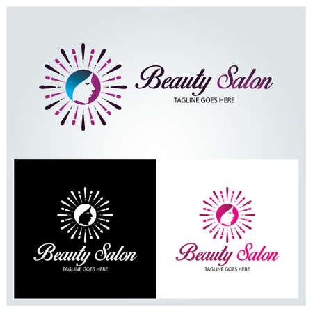 Beauty salon logo design template. vector illustration