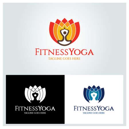 Fitness Yoga logo. Health care icon. Vector illustration 矢量图像