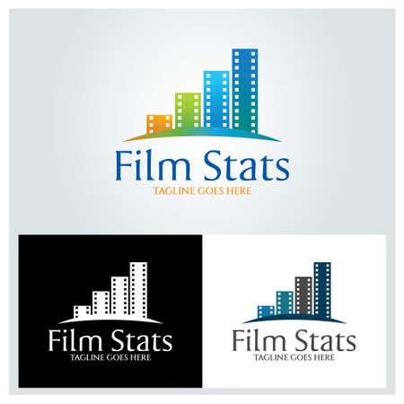 Film Stats logo design template. Vector illustration