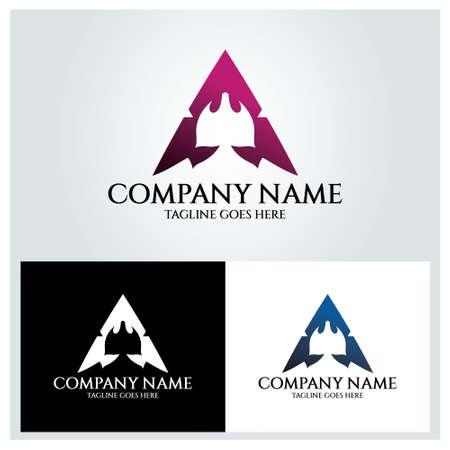 Gamer logo design template. Vector illustration