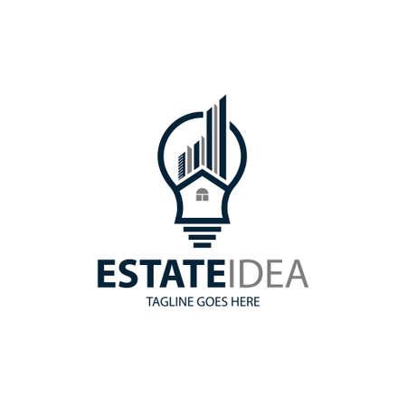 Home idea logo design template. Vector illustration