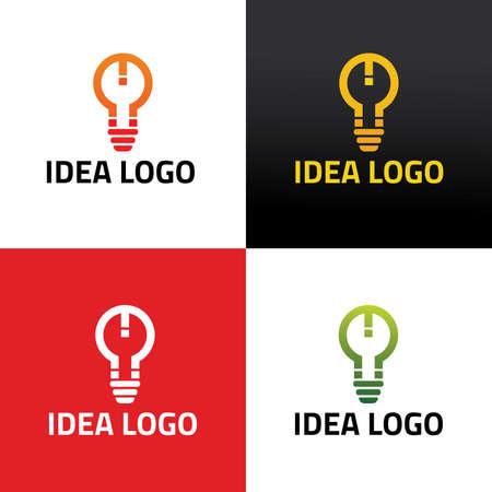 Creative idea logo design template. Vector illustration
