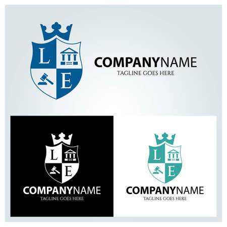 Education law logo design template. Vector illustration