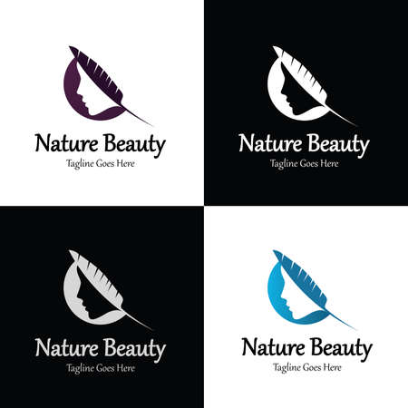 Nature beauty logo design template. Vector illustration 向量圖像
