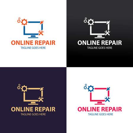 Online repair design template. Vector illustration 矢量图像