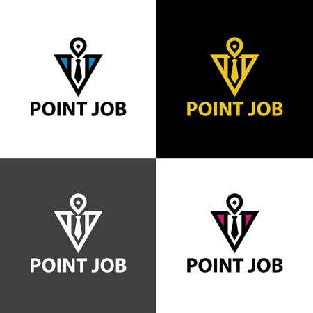 Job point design template. Vector illustration