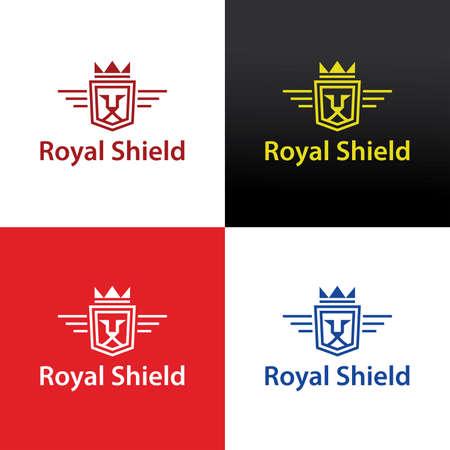 Royal lion design template. Vector illustration 矢量图像