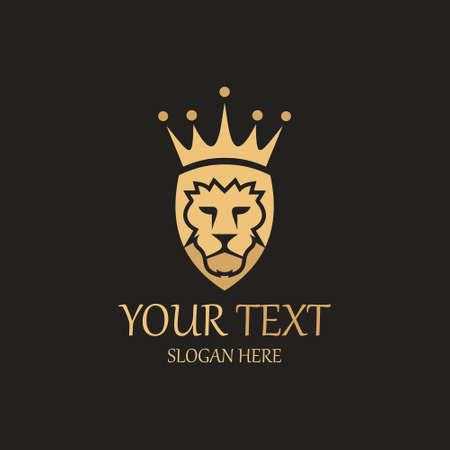 Royal Lion design template. Vector illustration