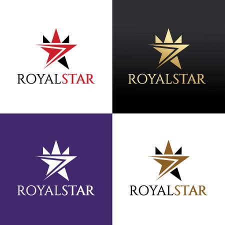 Royal star design template. Vector illustration