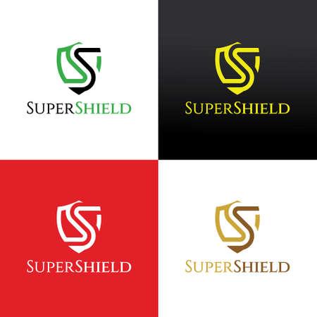 Super shield design template. Vector illustration 矢量图像