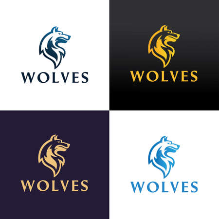 Wolf design template. Vector illustration 向量圖像