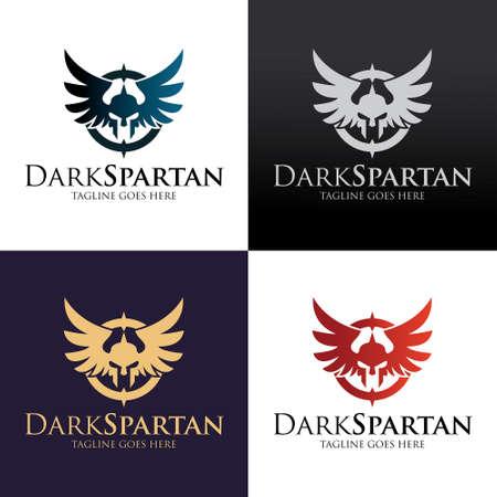 Spartan design template. Vector illustration