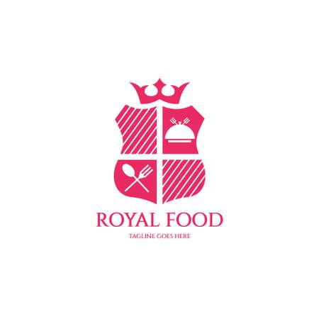Royal food logo design template. Vector illustration