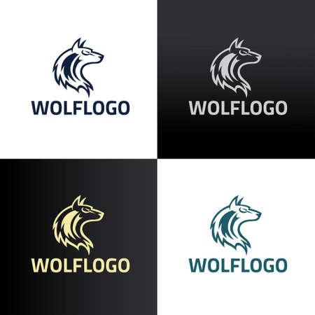Wolf logo design template. Vector illustration 矢量图像
