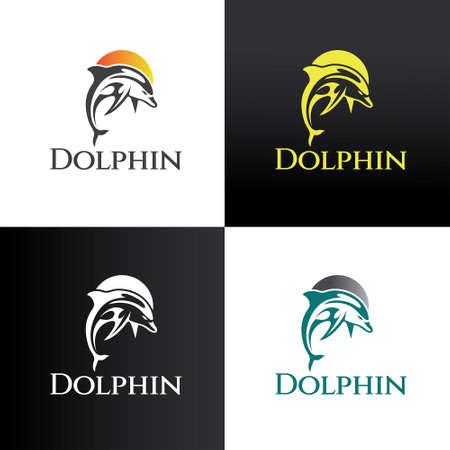Dolphin logo design template. Vector illustration 矢量图像