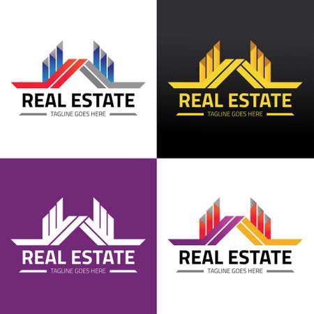Real estate logo design template. Vector illustration