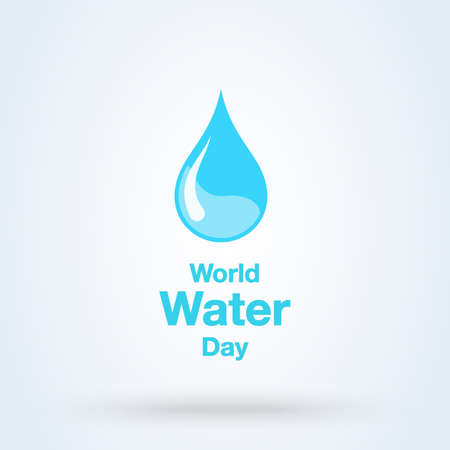 World Water Day Greeting. vector abstract waterdrop concept Illusztráció