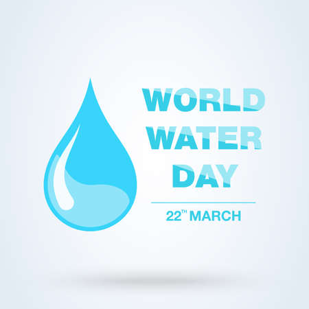 World Water Day Greeting. vector abstract waterdrop concept Иллюстрация