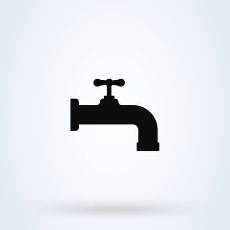 Water tap Simple vector modern icon design illustration