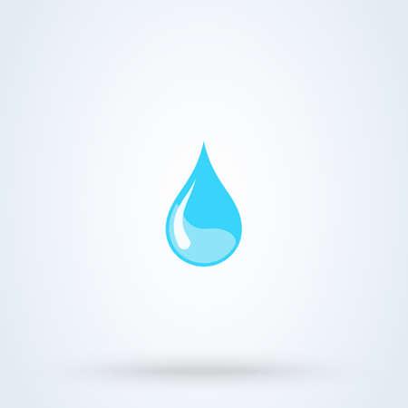 Blue water drop. vector modern icon design illustration. Ilustração
