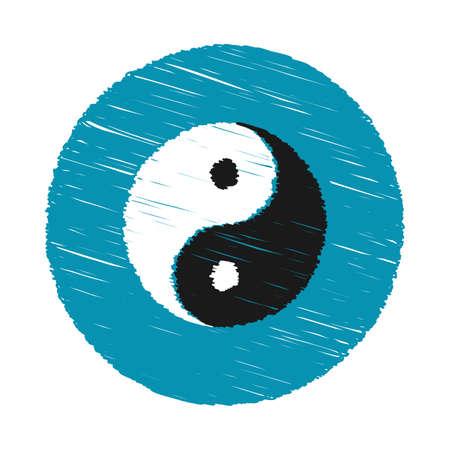 hand drawn spiral yin yang symbol