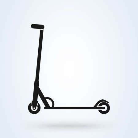 Vector scooter icon design on white background