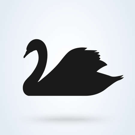 swan vector icon. swan sign on white background.