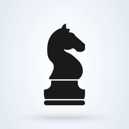 Symbole de cheval de vecteur de chevalier pour l'inspiration de conception