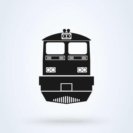 The train icon. Railway symbol. Flat Vector illustration