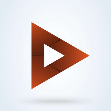 play media sign icon vector template. Abstract Play button Illustration