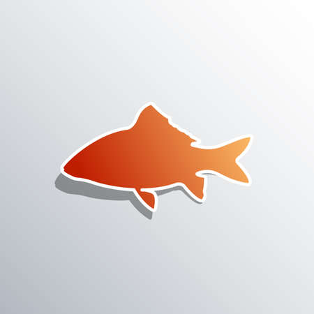 Fish icon vector. isolated on white background Standard-Bild - 128746428