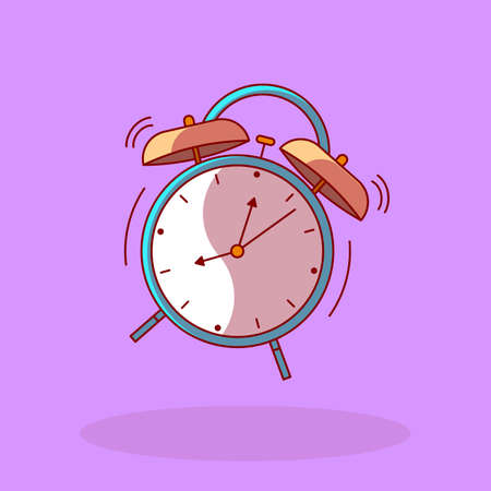 Vector Alarm clock wake-up time isolated in line flat style. Reklamní fotografie - 128326242