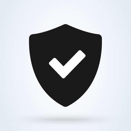 Tick mark approved icon vector on white background Ilustração