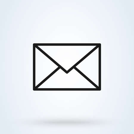 Mail icon. Envelope sign. Vector Illustration. Transparent background. Email icon.