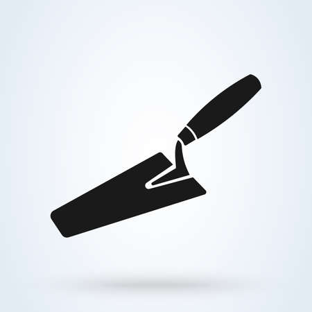 Trowel icon. Vector concept illustration for design. Vector illustration.