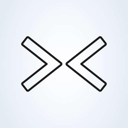 Web Arrow Right Left line art Flat Icon On White Background 일러스트
