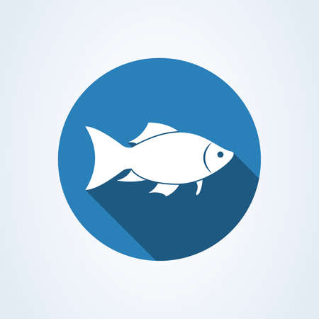 fish silhouette icon isolated on white background. Vector illustration Standard-Bild - 128746743