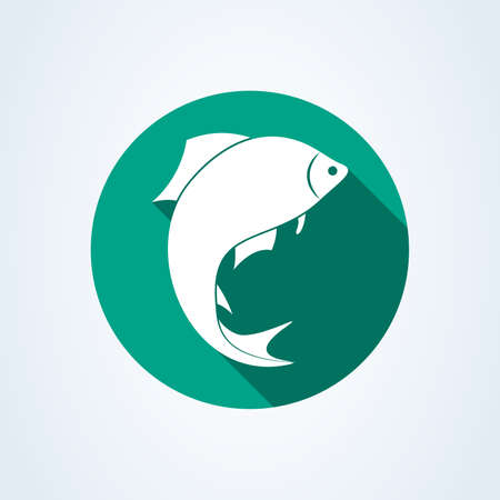 fish silhouette icon isolated on white background. Vector illustration Standard-Bild - 128746752