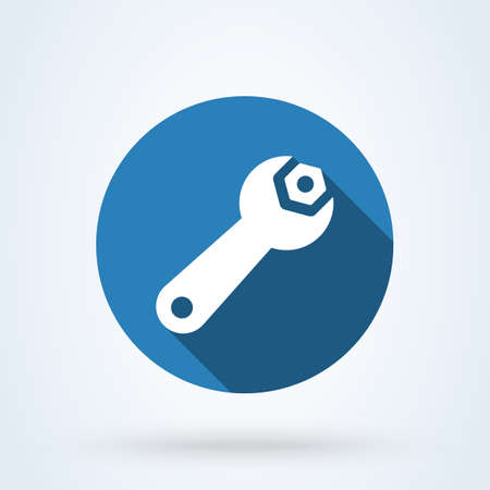 wrench screw Simple vector modern icon design illustration.