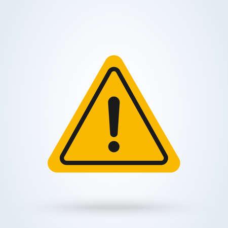 Avvertimento di pericolo Illustrazione moderna di progettazione dell'icona di vettore semplice.