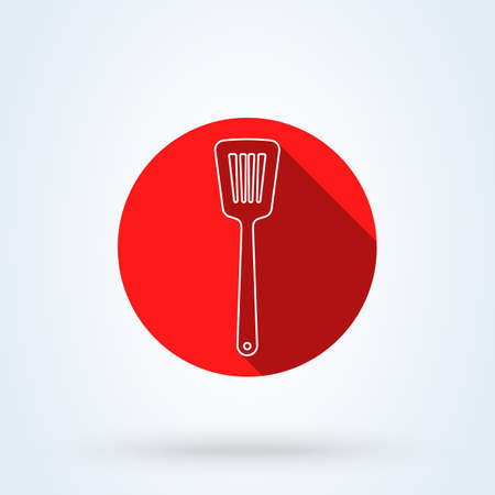 Kitchen spatula Simple line art. vector modern icon design illustration