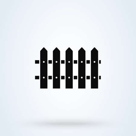 fence Simple vector modern icon design illustration.