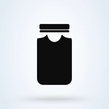 Jar Simple vector modern icon design illustration.